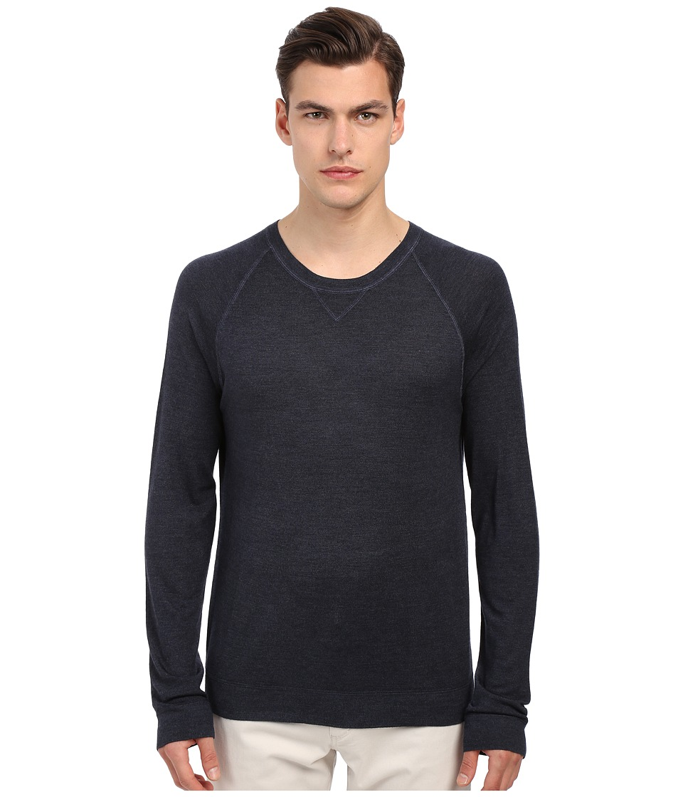Vince - Spray Paint Raglan Crew Neck Sweater (Coastal) Men's Sweater