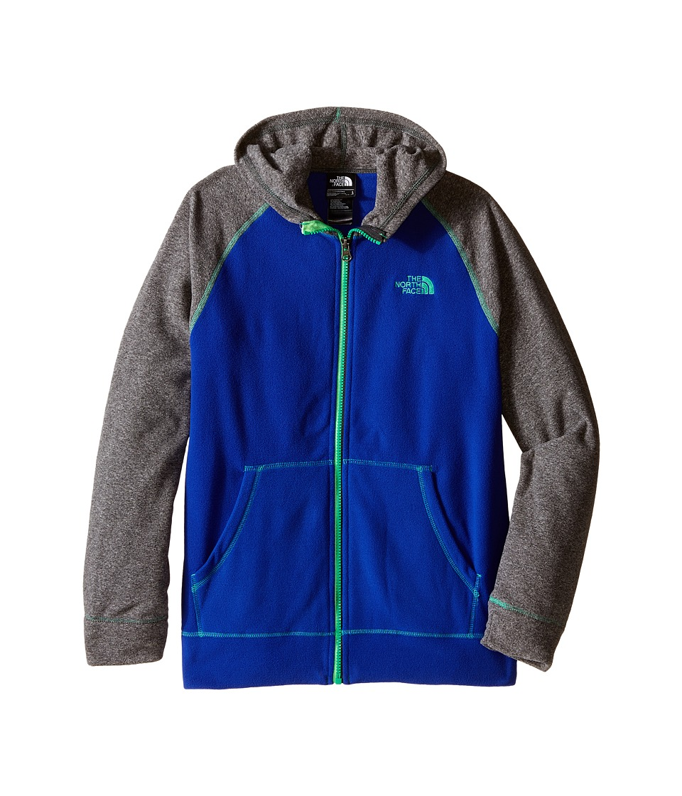 The North Face Kids - Glacier Full Zip Hoodie (Little Kids/Big Kids) (Marker Blue/TNF Medium Grey Heather) Boy's Sweatshirt