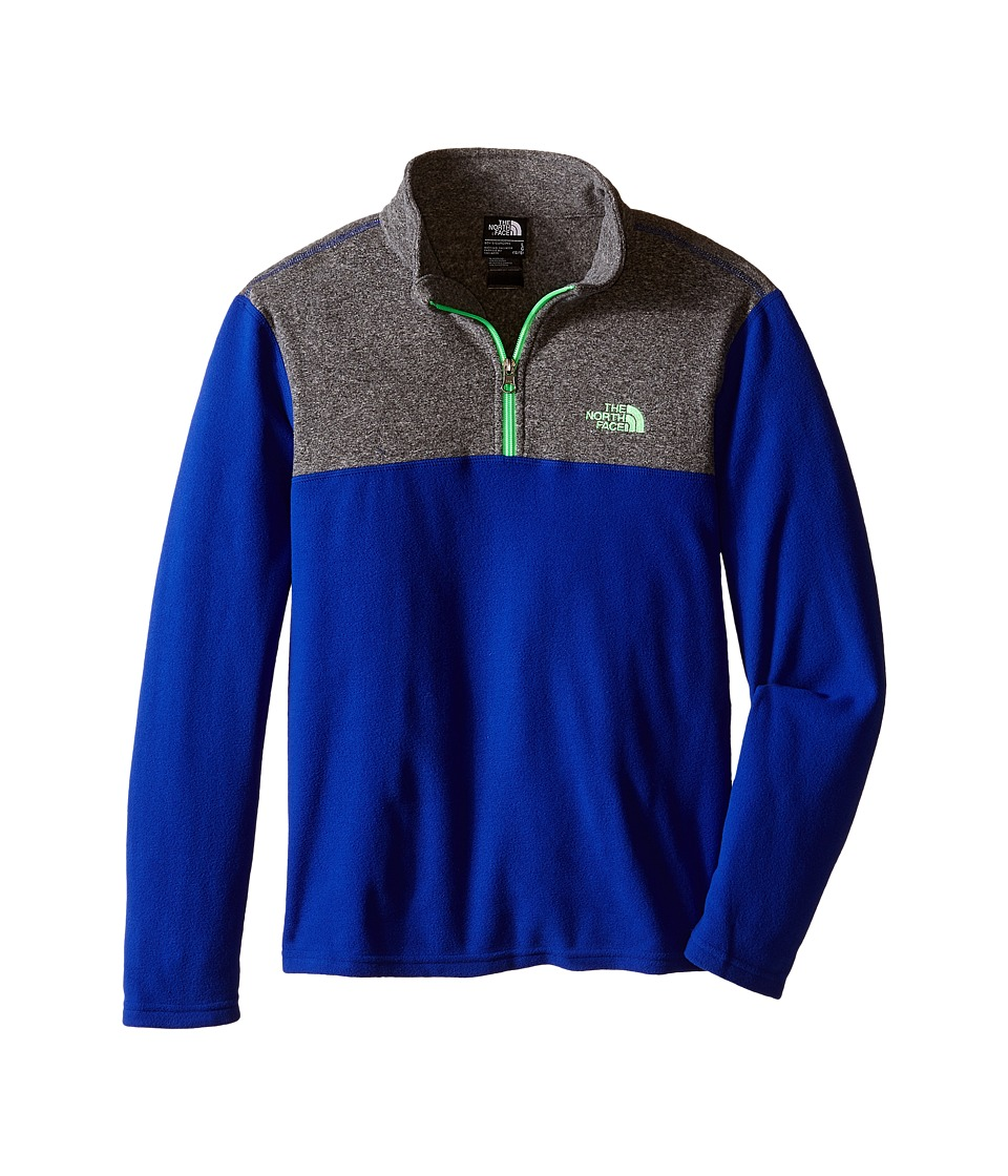 The North Face Kids - Glacier 1/4 Zip (Little Kids/Big Kids) (Marker Blue) Boy's Long Sleeve Pullover