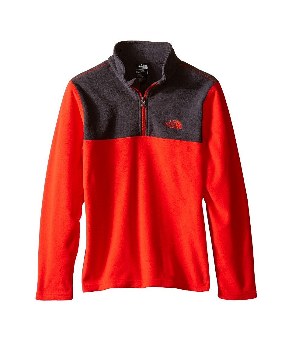 The North Face Kids - Glacier 1/4 Zip (Little Kids/Big Kids) (Fiery Red) Boy's Long Sleeve Pullover
