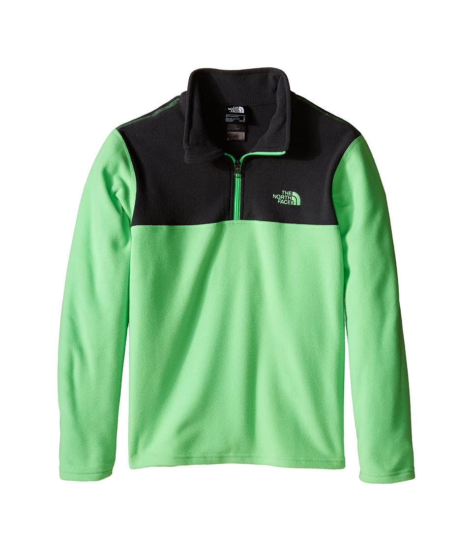 The North Face Kids - Glacier 1/4 Zip (Little Kids/Big Kids) (Electric Mint Green) Boy's Long Sleeve Pullover