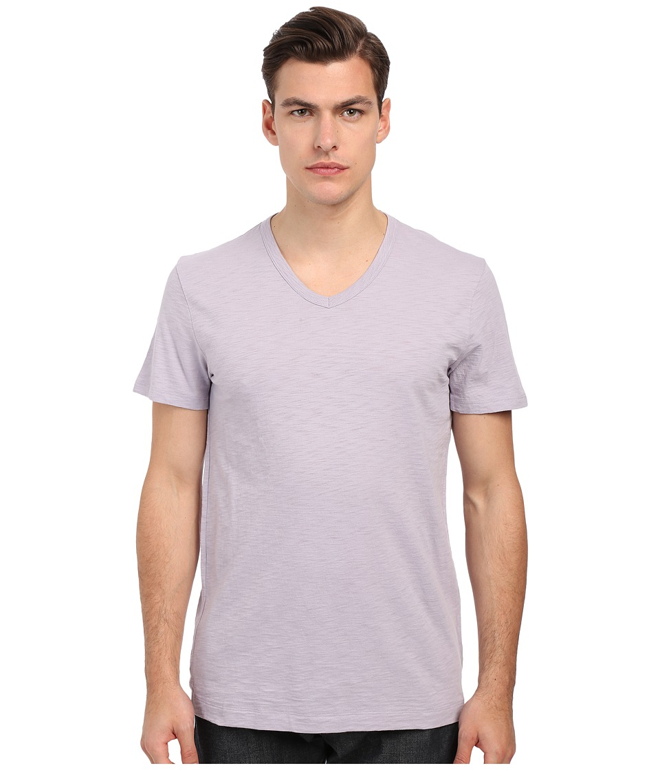 Vince - Refined Slub V-Neck T-Shirt (Lavender Mist) Men's T Shirt