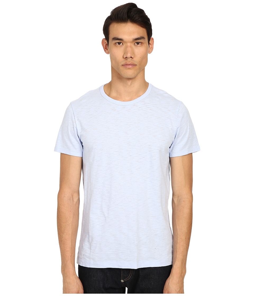 Vince - Refined Slub Crew Neck T-Shirt (Skyfall Blue) Men