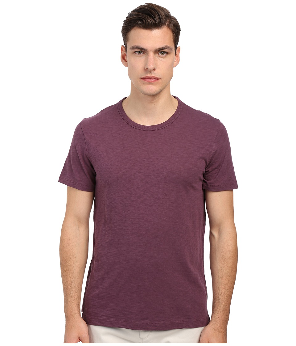 Vince - Refined Slub Crew Neck T-Shirt (Amethyst) Men's T Shirt