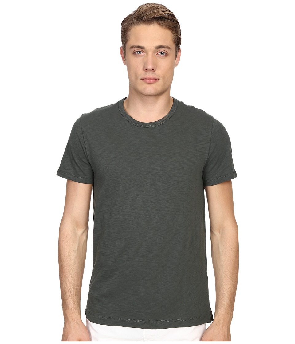 Vince - Refined Slub Crew Neck T-Shirt (Urban Green) Men's T Shirt