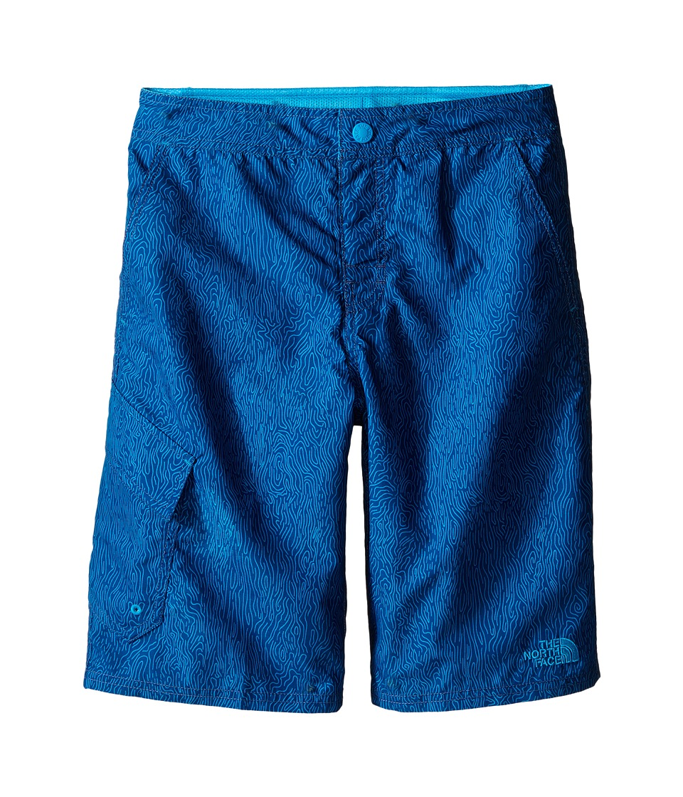 The North Face Kids - Markhor Hike/Water Shorts (Little Kids/Big Kids) (Pelagic Blue Ripple Print) Boy's Shorts