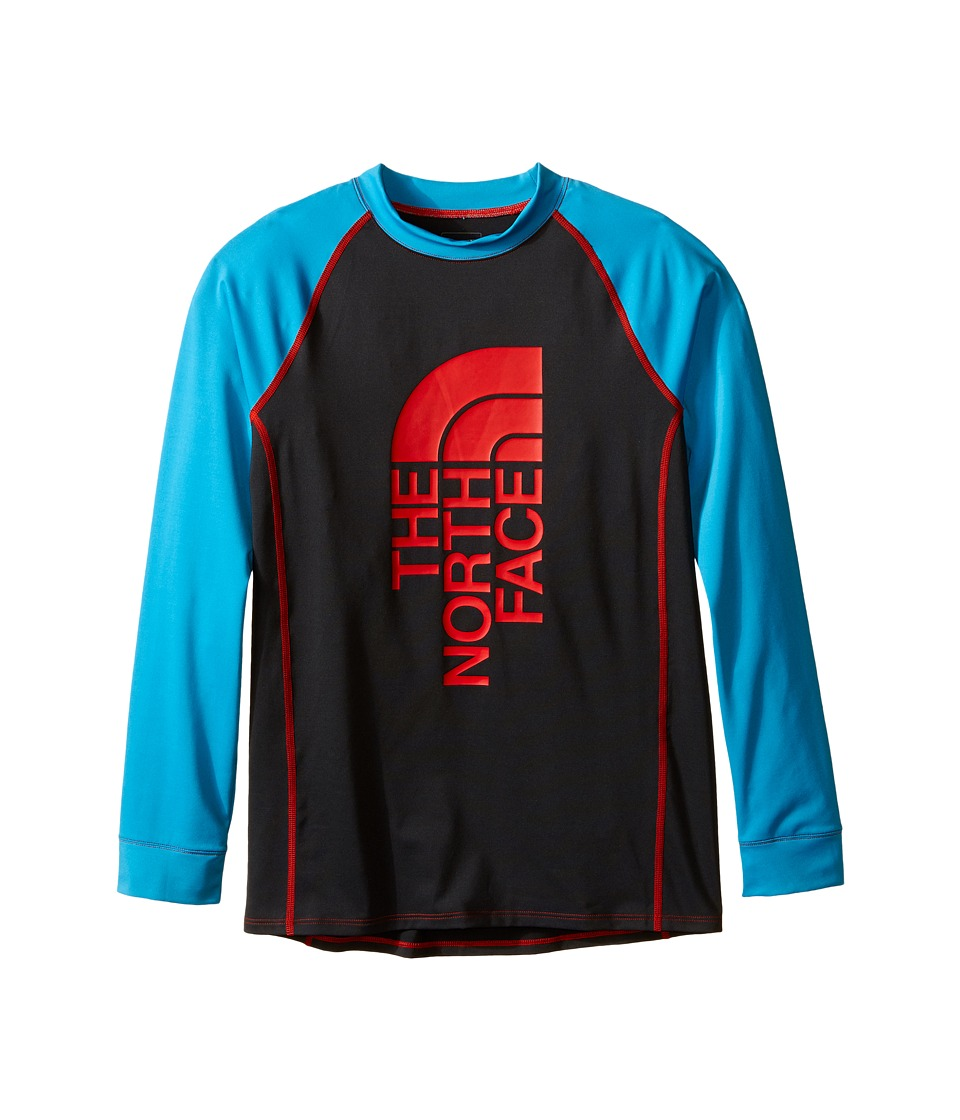 The North Face Kids - Dog Patch Long Sleeve Rashguard (Little Kids/Big Kids) (Asphalt Grey) Boy's Swimwear