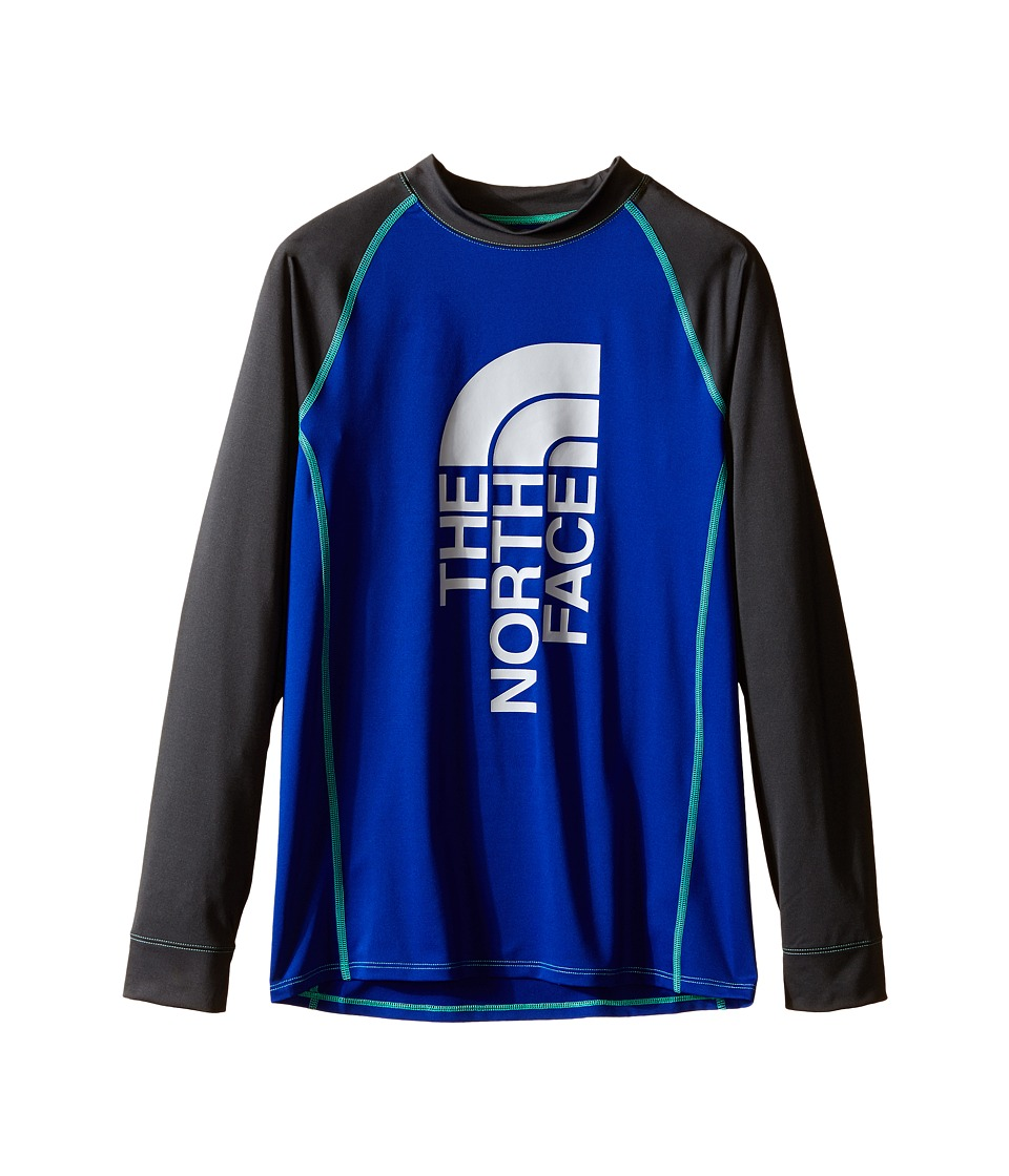 The North Face Kids - Dog Patch Long Sleeve Rashguard (Little Kids/Big Kids) (Marker Blue) Boy's Swimwear