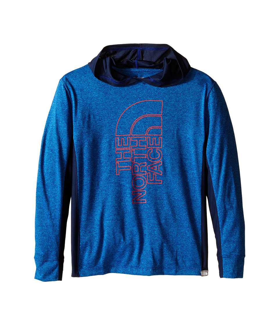 The North Face Kids - Long Sleeve Reactor Hoodie (Little Kids/Big Kids) (Marker Blue Heather) Boy's Sweatshirt