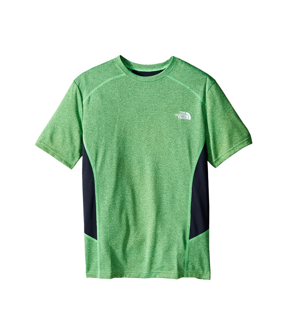 The North Face Kids - Short Sleeve Reactor Tee (Little Kids/Big Kids) (Electric Mint Green Heather) Boy's Short Sleeve Pullover