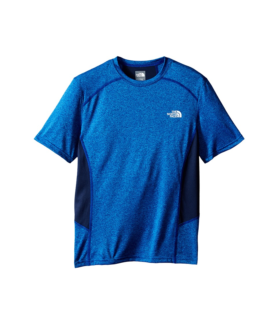 The North Face Kids - Short Sleeve Reactor Tee (Little Kids/Big Kids) (Marker Blue Heather) Boy's Short Sleeve Pullover