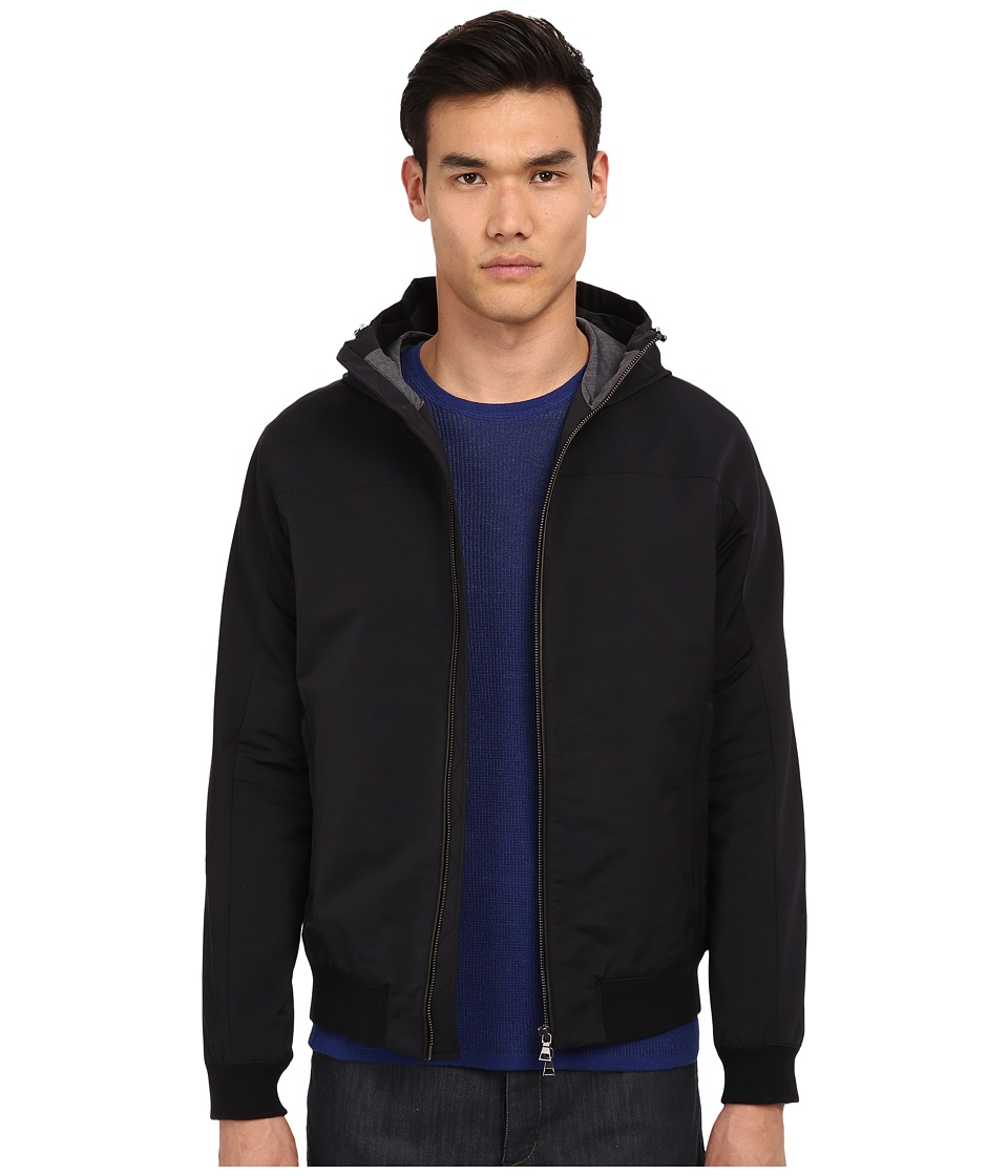 Vince - Highline Scuba Hoodie (Black) Men's Sweatshirt
