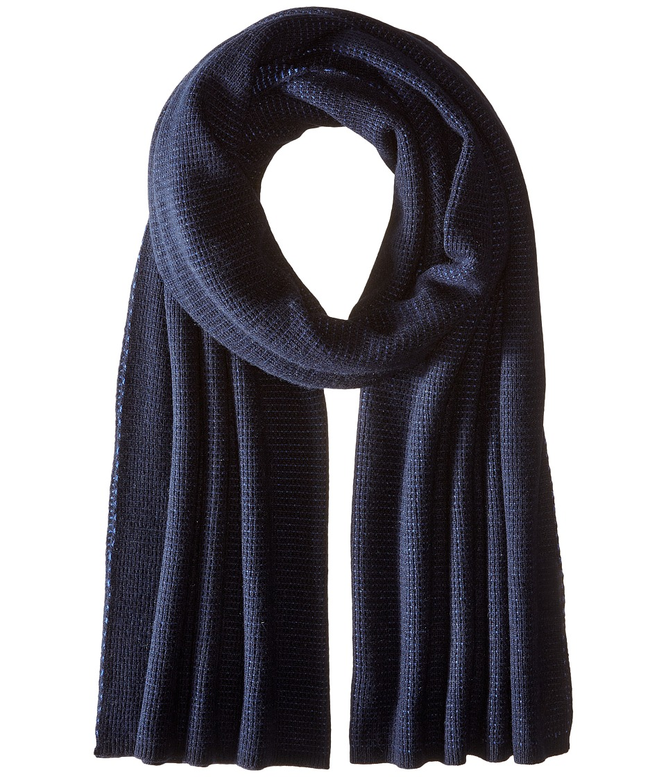 Vince - Luxe Thermal Blanket Scarf (Heather Twilight Blue) Scarves