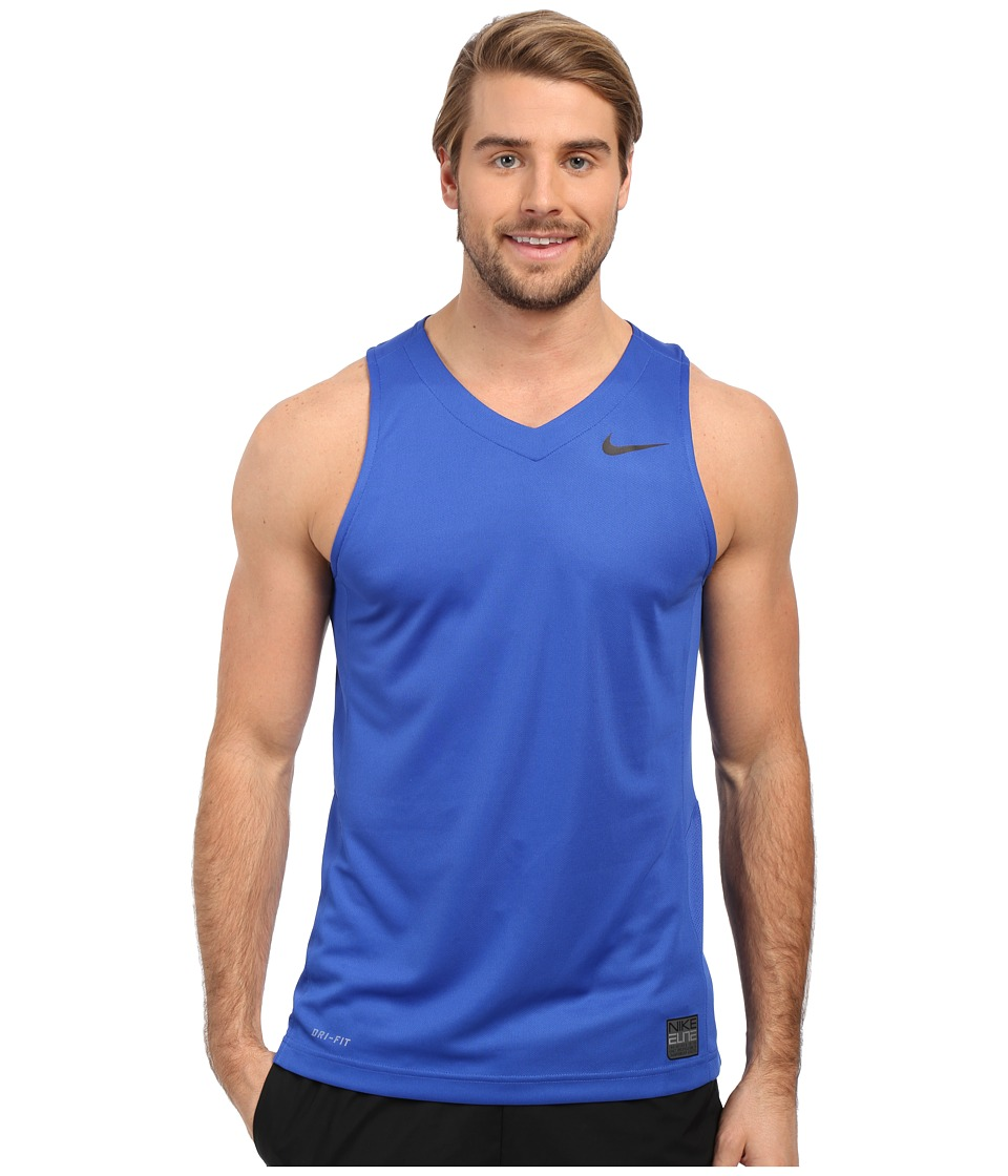 Nike - Elite Basketball Tank (Game Royal/Game Royal/Black/Black) Men's Sleeveless