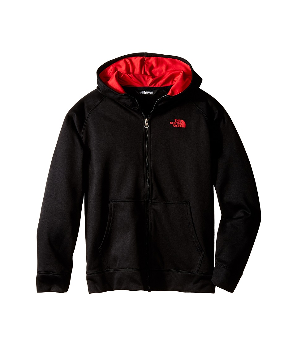The North Face Kids - Surgent Full Zip Hoodie (Little Kids/Big Kids) (TNF Black) Boy's Sweatshirt