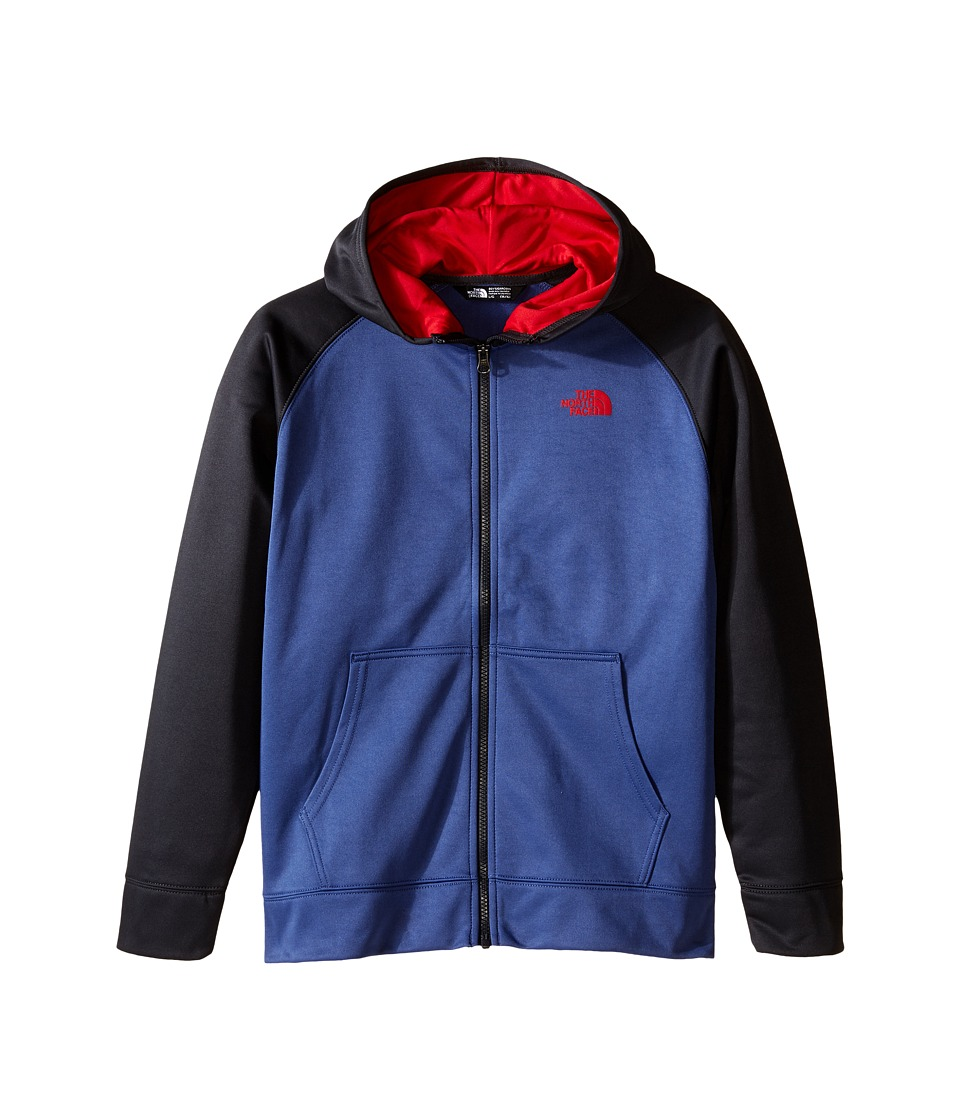 The North Face Kids - Surgent Full Zip Hoodie (Little Kids/Big Kids) (Pelagic Blue) Boy's Sweatshirt