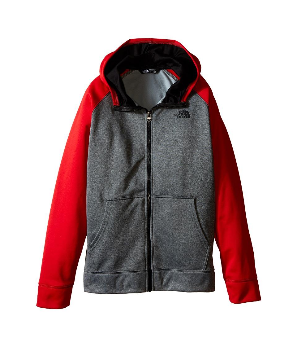 The North Face Kids - Surgent Full Zip Hoodie (Little Kids/Big Kids) (TNF Medium Grey Heather) Boy's Sweatshirt