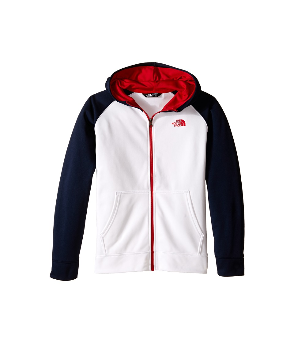 The North Face Kids - Surgent Full Zip Hoodie (Little Kids/Big Kids) (TNF White) Boy's Sweatshirt