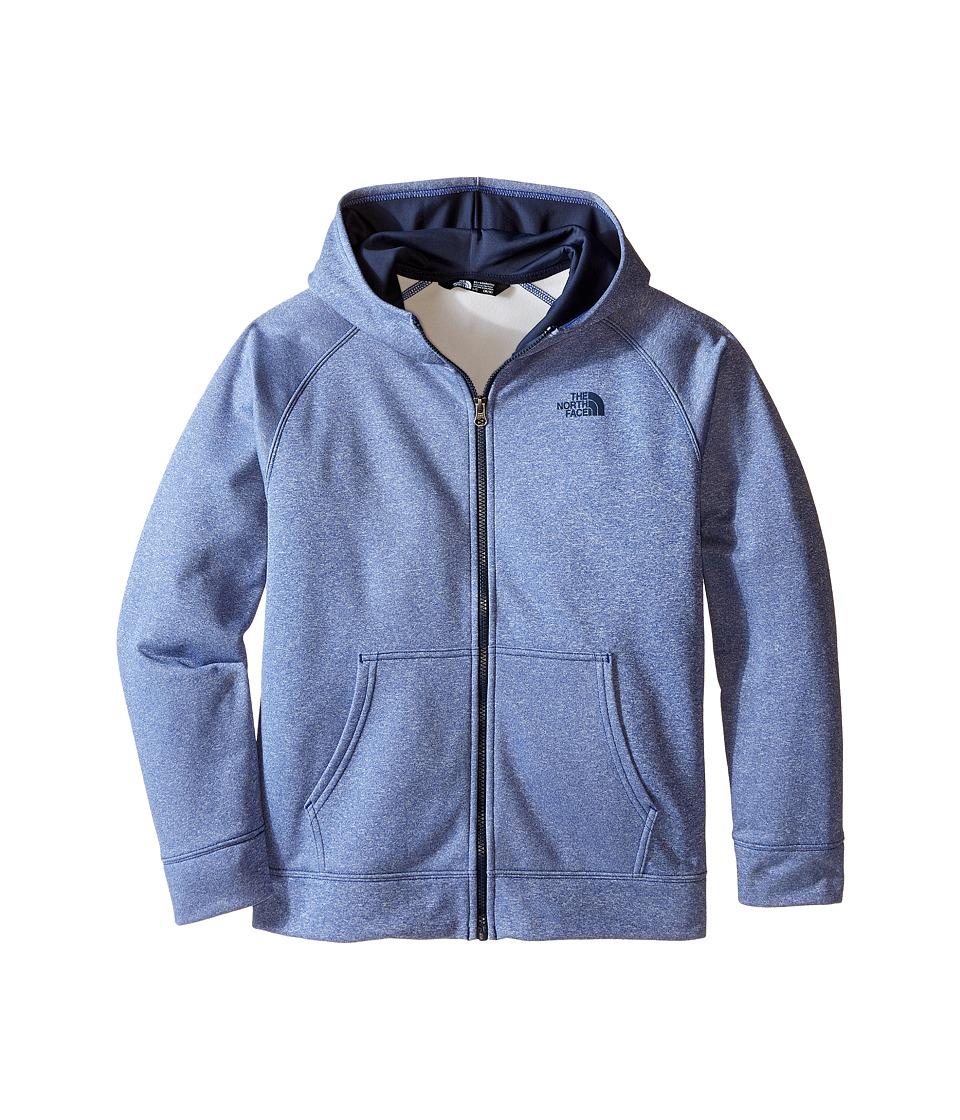 The North Face Kids - Surgent Full Zip Hoodie (Little Kids/Big Kids) (Marker Blue Heather) Boy's Sweatshirt
