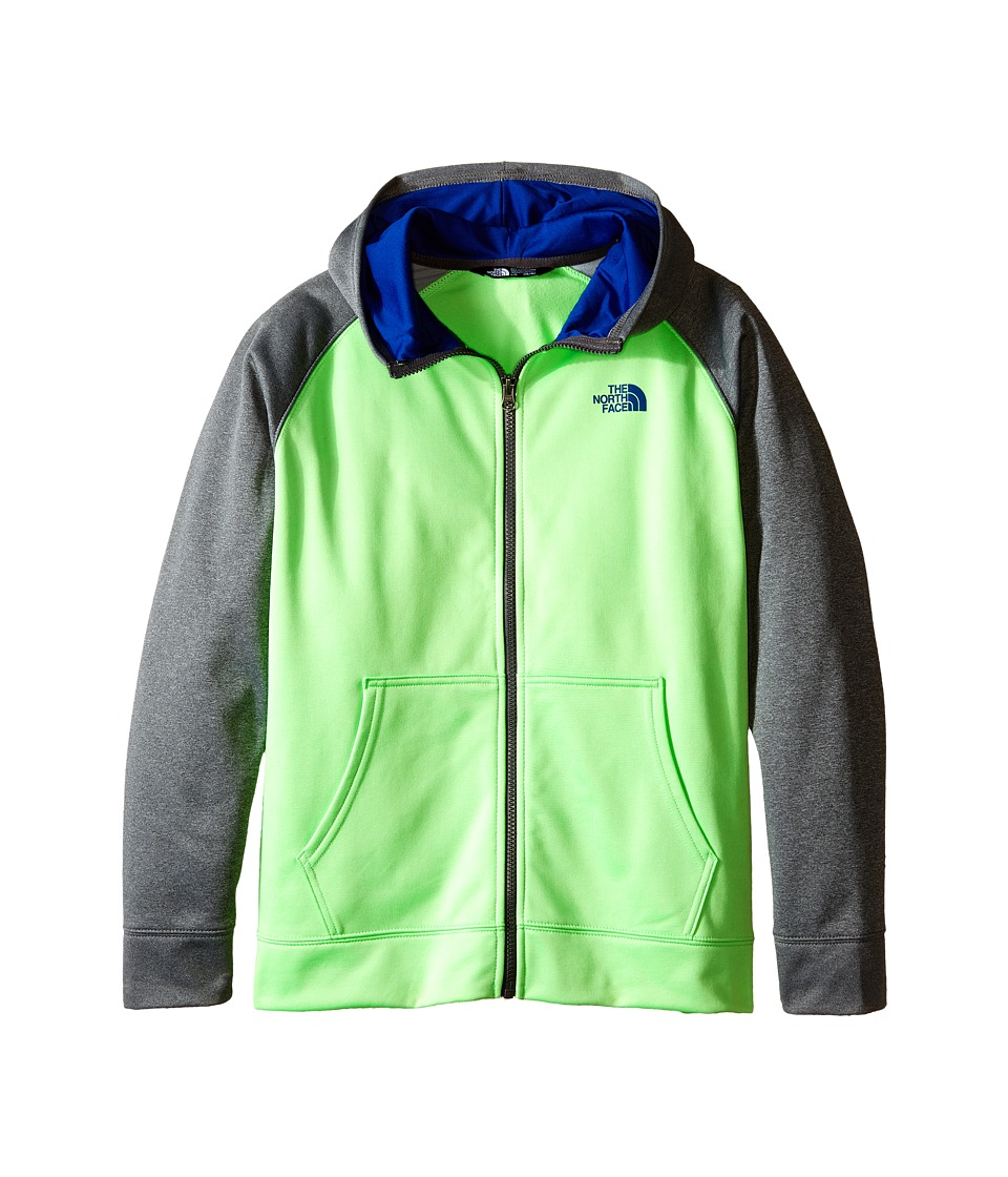 The North Face Kids - Surgent Full Zip Hoodie (Little Kids/Big Kids) (Electric Mint Green) Boy's Sweatshirt
