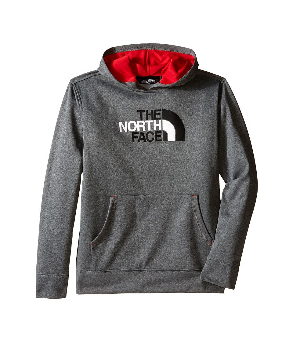 The North Face Kids - Surgent Pullover Hoodie (Little Kids/Big Kids) (TNF Medium Grey Heather/Marker Blue) Boy's Sweatshirt