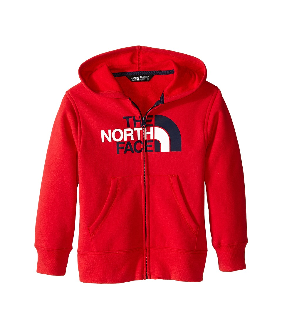 The North Face Kids - Logowear Full Zip Hoodie (Little Kids/Big Kids) (TNF Red (Prior Season)) Boy's Sweatshirt