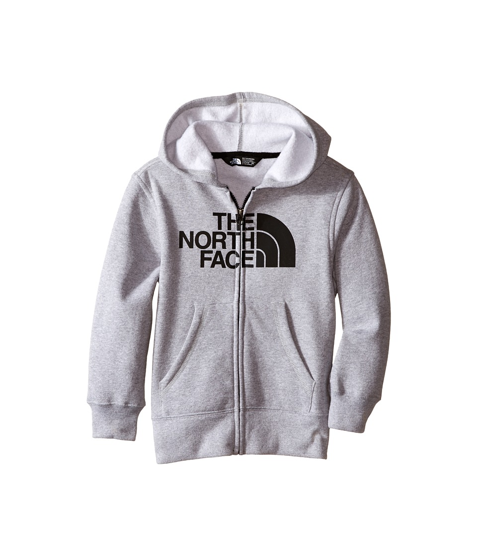 The North Face Kids - Logowear Full Zip Hoodie (Little Kids/Big Kids) (TNF Light Grey Heather) Boy's Sweatshirt