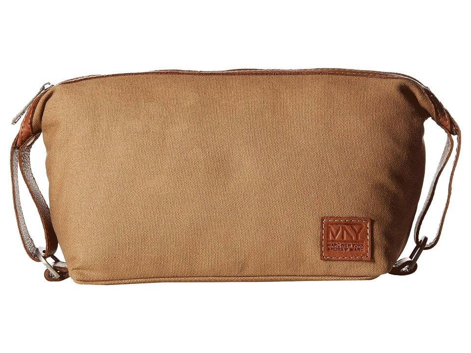Marc New York by Andrew Marc - Mixed Material Travel Kit (Khaki) Travel Pouch