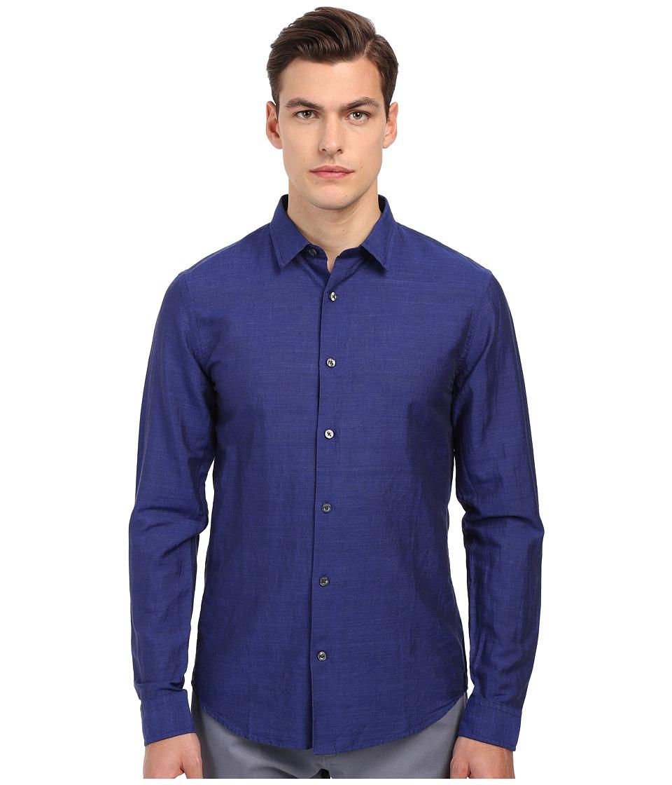 Vince - Melrose Linen Shirt (Twilight) Men's Long Sleeve Button Up