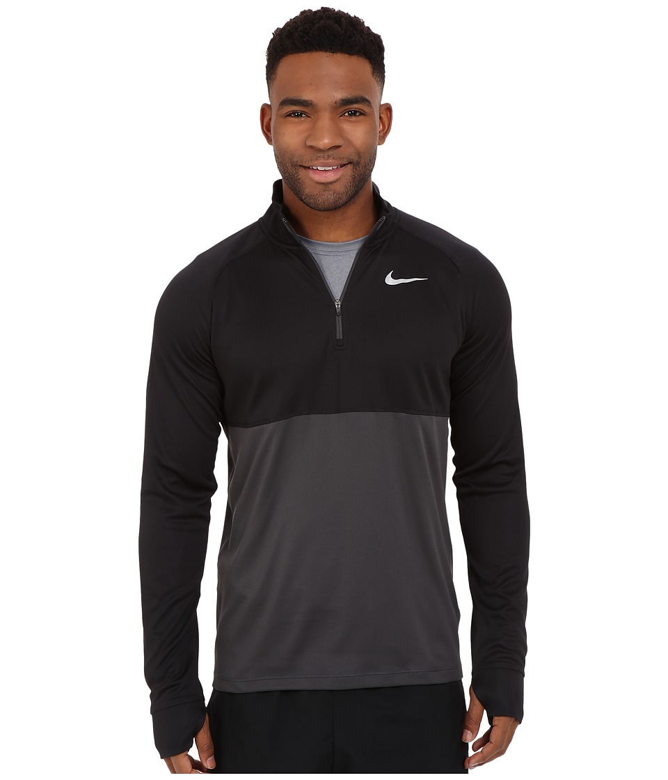 Nike - Racer Half Zip (Black/Anthracite/Reflective Silver) Men's Long Sleeve Pullover