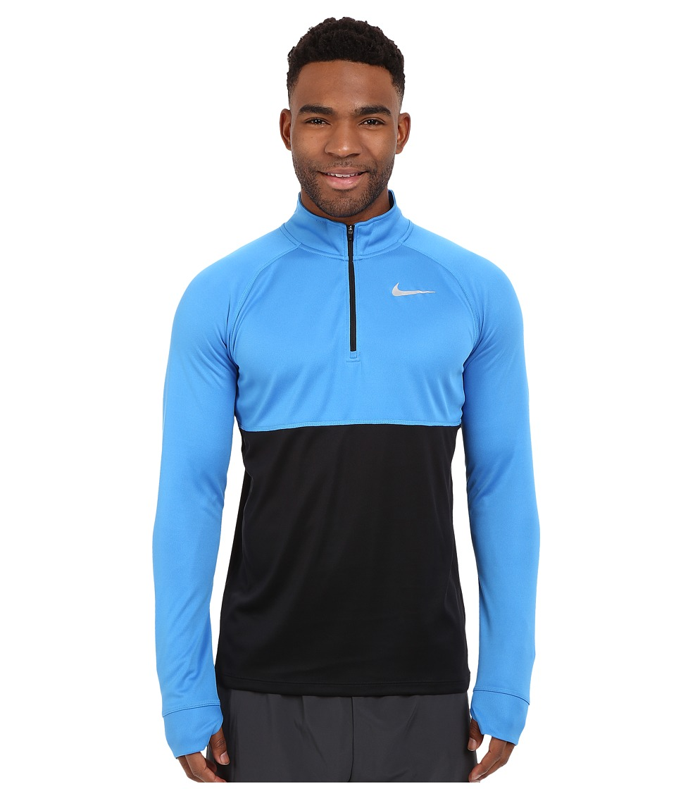 Nike - Racer Half Zip (Light Photo Blue/Black/Black/Reflective Silver) Men's Long Sleeve Pullover