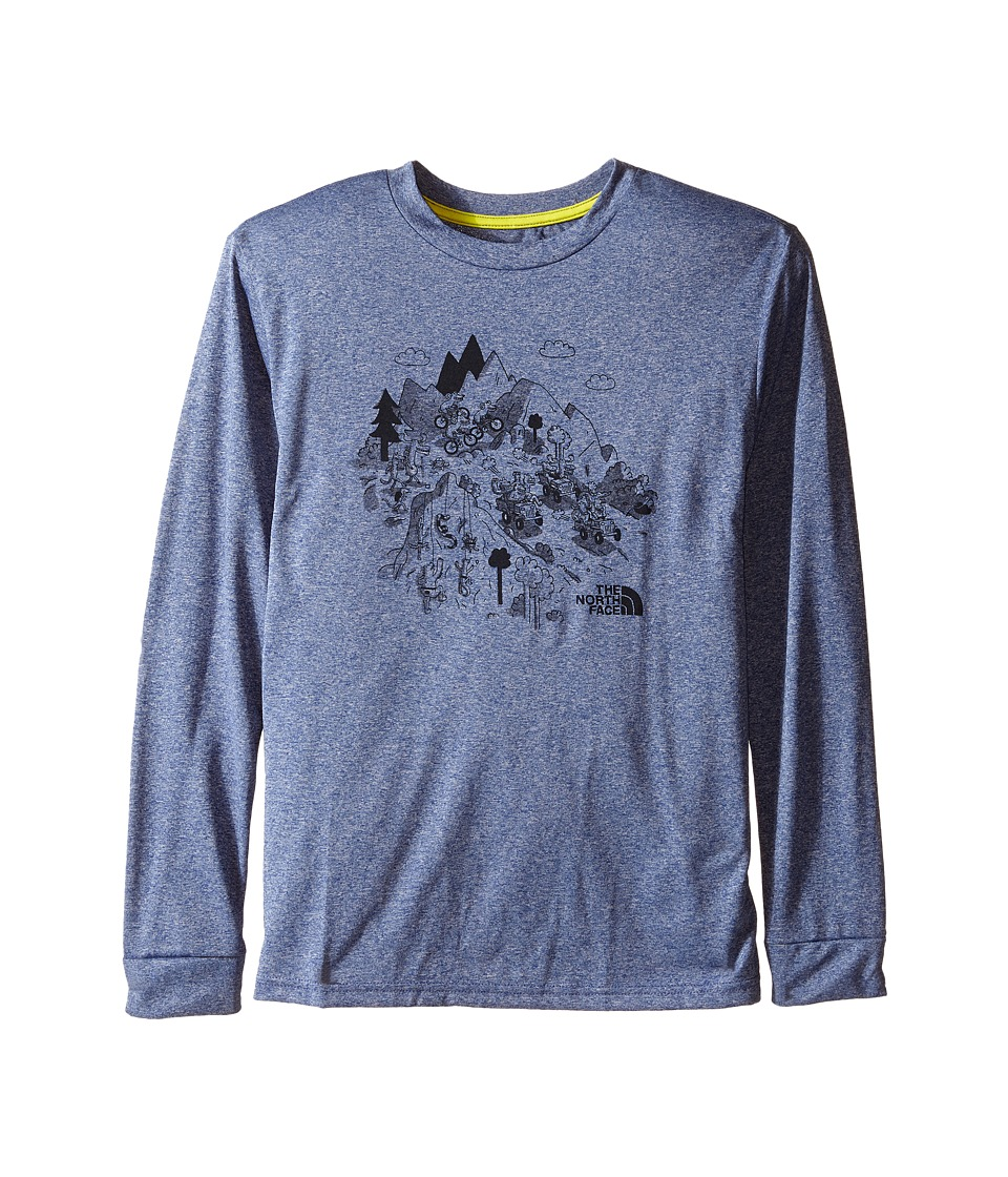 The North Face Kids - Long Sleeve Reaxion Tee (Little Kids/Big Kids) (Pelagic Blue Heather) Boy's Long Sleeve Pullover