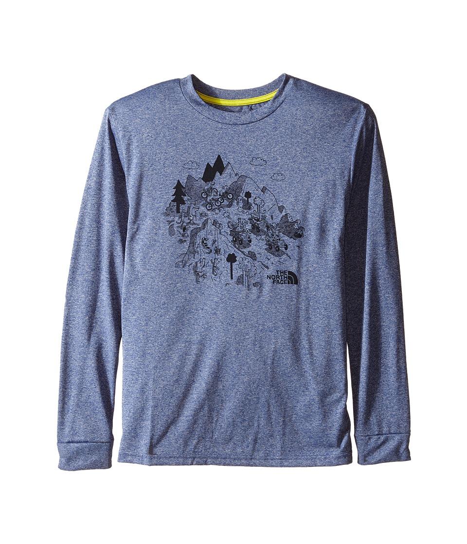 The North Face Kids - Long Sleeve Reaxion Tee (Little Kids/Big Kids) (Pelagic Blue Heather) Boy's Long Sleeve Pullover