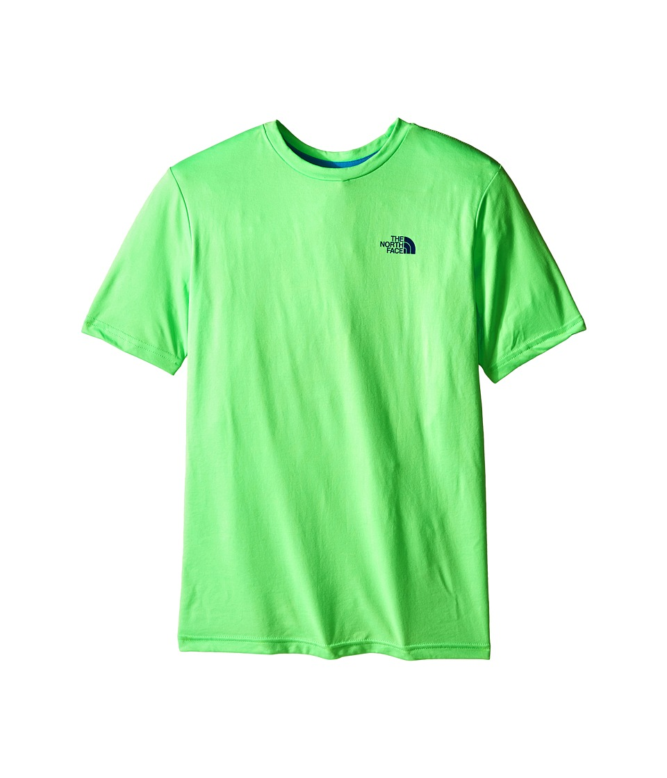 The North Face Kids Short Sleeve Reaxion Tee (Little Kids/Big Kids) (Electric Mint Green) Boy