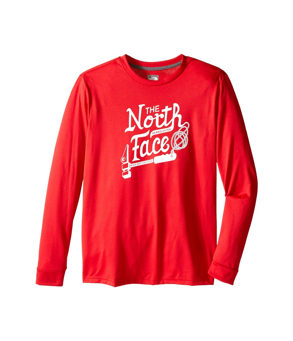 The North Face Kids - Long Sleeve Reaxion Tee (Little Kids/Big Kids) (TNF Red) Boy's Long Sleeve Pullover