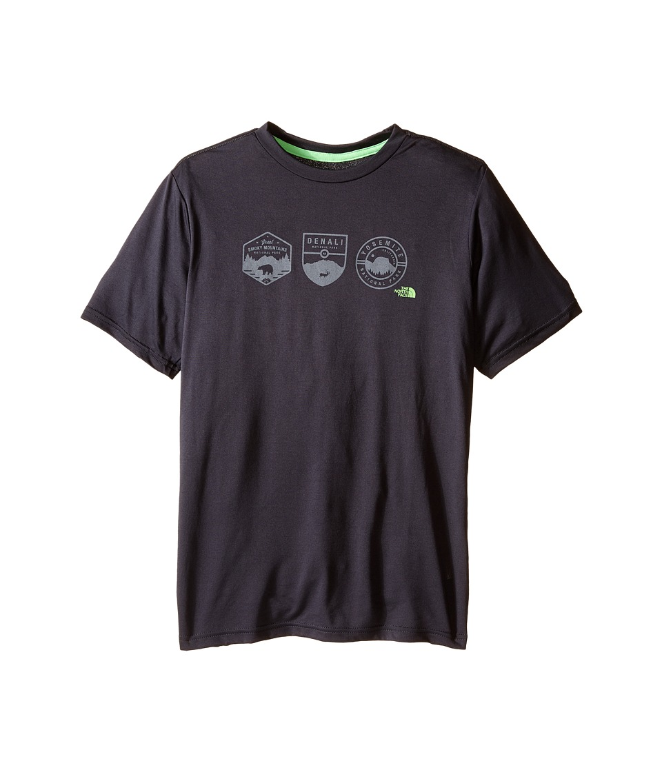 The North Face Kids - Short Sleeve Reaxion Tee (Little Kids/Big Kids) (Asphalt Grey) Boy