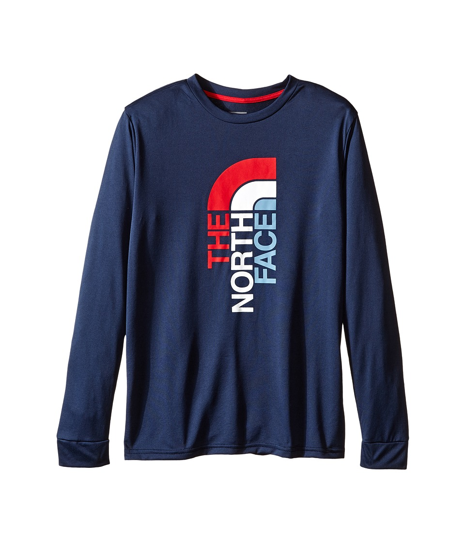 The North Face Kids - Long Sleeve Reaxion Tee (Little Kids/Big Kids) (Cosmic Blue) Boy's Long Sleeve Pullover