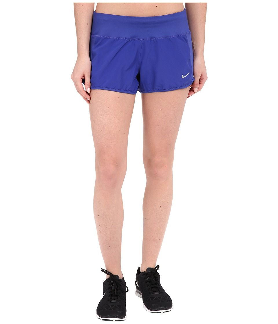 Nike - Dri-FIT Crew Shorts (Deep Night/Deep Night/Reflective Silver) Women's Shorts