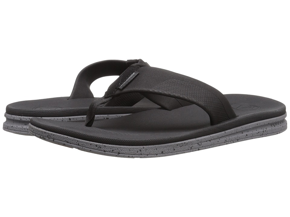 Volcom Draft Sandal (Black Charcoal) Men