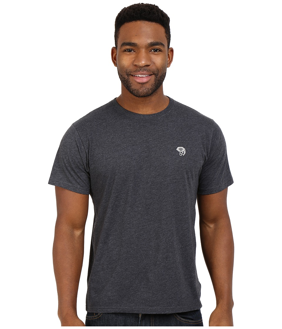 Mountain Hardwear - MHW Logo Graphic Short Sleeve Tee (Heather Black/Grey) Men's T Shirt