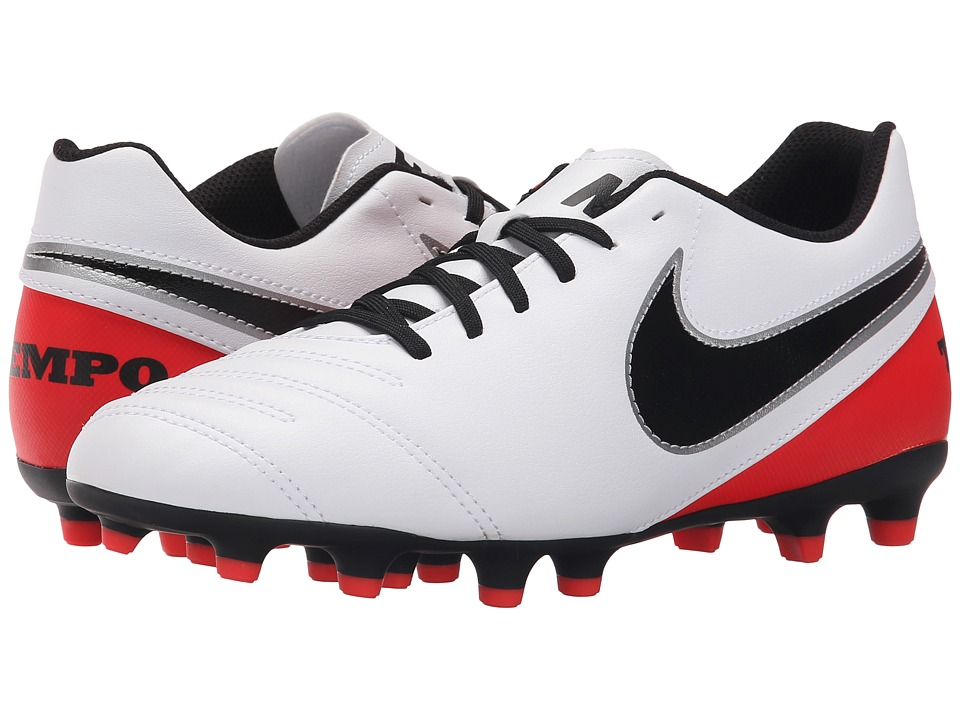 Nike - Tiempo Rio III FG (White/Bright Crimson/Black/Black) Women's Soccer Shoes