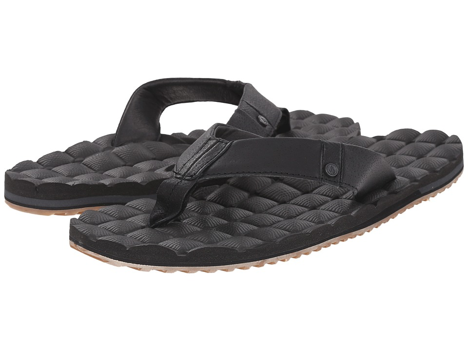 Volcom - Recliner Leather (Vintage Black) Men's Sandals