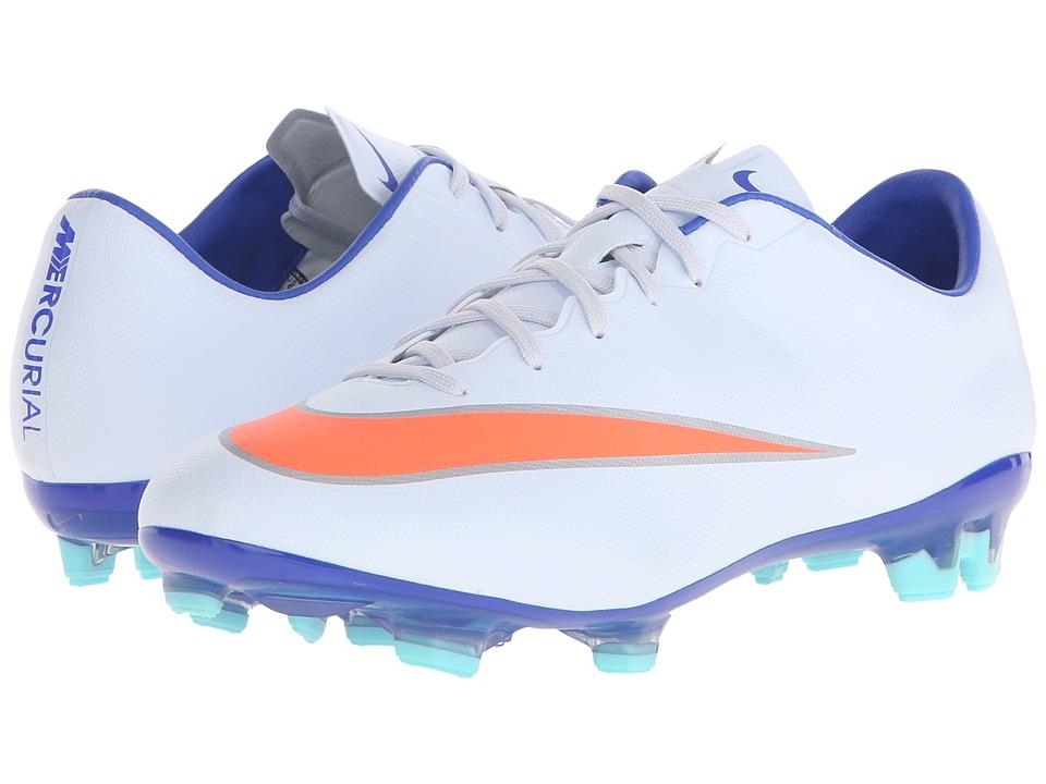 Nike - Mercurial Veloce II FG (Blue Tint/Racer Blue/Hyper Turquoise/Bright Mango) Women's Soccer Shoes