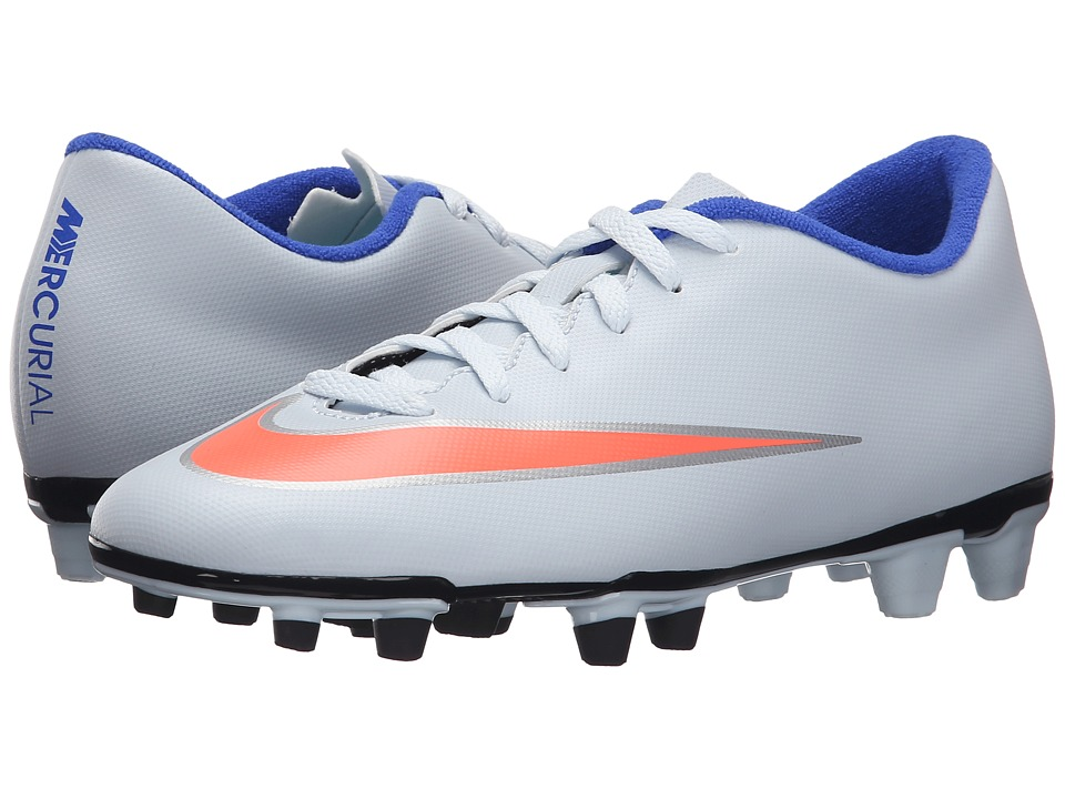 Nike - Mercurial Vortex II FG (Blue Tint/Racer Blue/Hyper Turquoise/Bright Mango) Women's Soccer Shoes