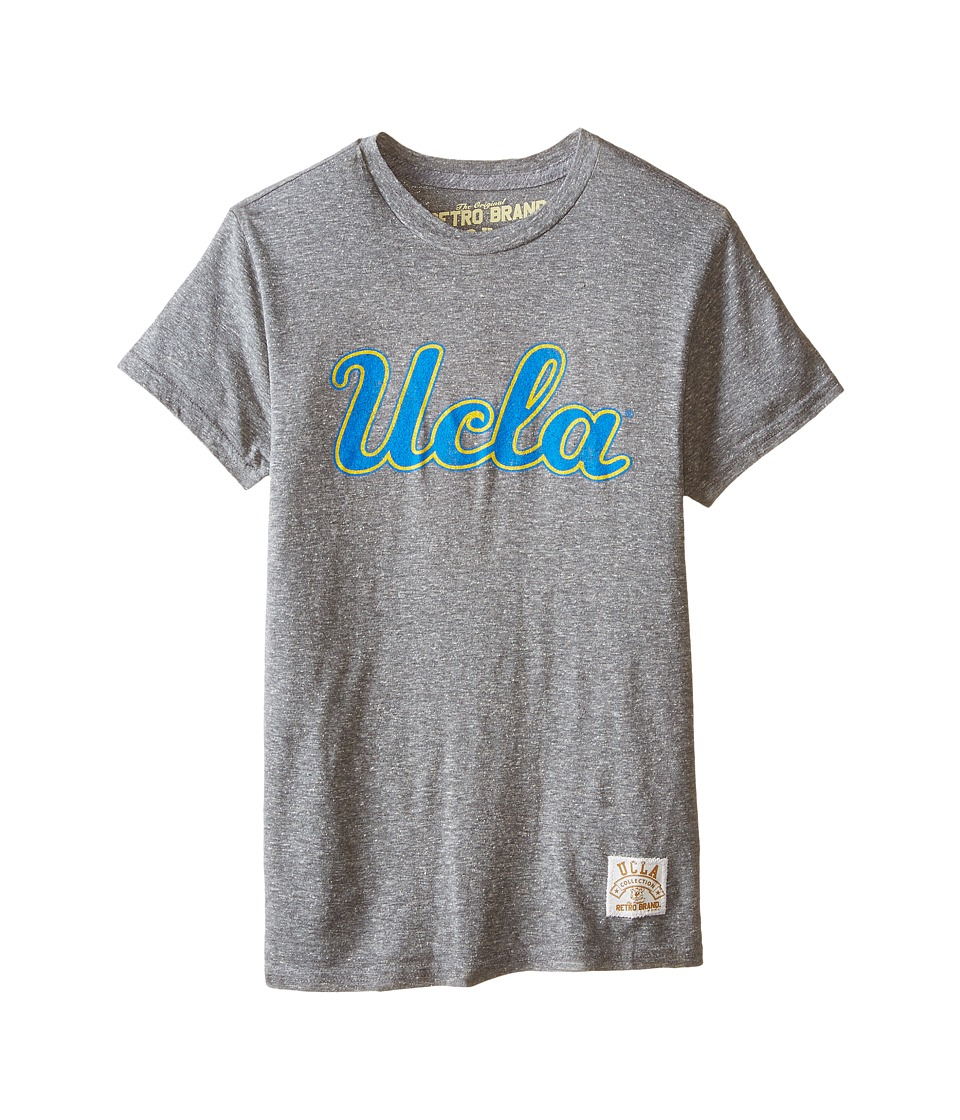 The Original Retro Brand Kids - UCLA Short Sleeve Tee (Big Kids) (Streaky Grey) Boy
