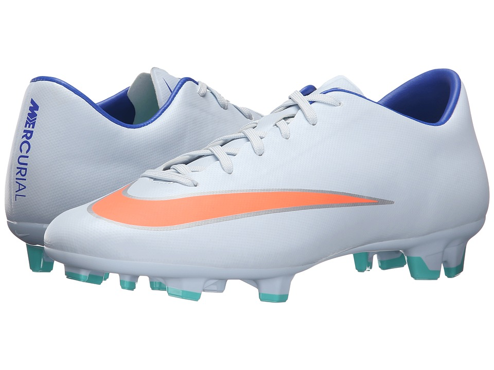 Nike - Mercurial Victory V FG (Blue Tint/Racer Blue/Hypr Turquoise/Bright Mango) Women's Soccer Shoes