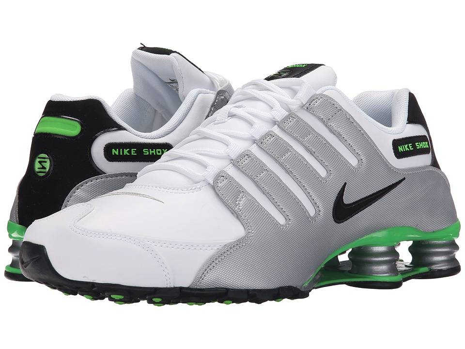 Nike - Shox NZ (White/Metallic Silver/Green Pulse/Black) Men's Shoes