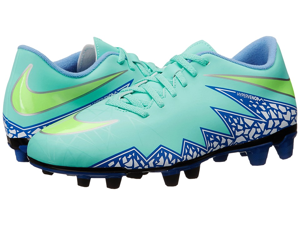 Nike - Hypervenom Phade 2 FG (Hyper Turquoise/Racer Blue/Chalk Blue/Voltage Green) Women's Soccer Shoes