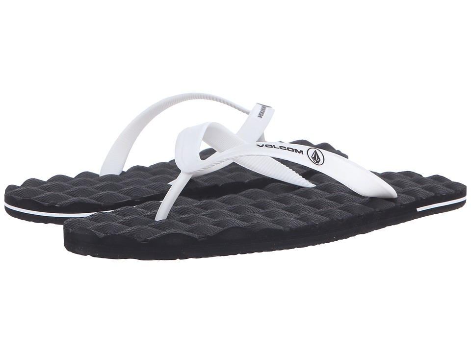 Volcom - Recliner Rubber (White/Black) Men's Sandals