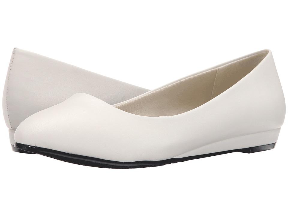 Soft Style - Darlene (White Leather) Women's Dress Flat Shoes